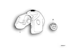 Goto diagram: BMW Classic Motorbike Model R 1100 GS 94 (0404,0409)( USA ), Category 16.11 Fuel tank :: Diagram: 16_0268