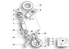 Goto diagram: BMW Classic Motorbike Model K 1200 RS 97 (0544,0554)( ECE ), Category 16.14 FUEL PUMP/FUEL FILTER :: Diagram: 16_0290