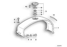Goto diagram: BMW Classic Motorbike Model K 1200 GT 01 (0548,0558)( USA ), Category 16.11 Fuel tank cover, filler cap :: Diagram: 16_0291