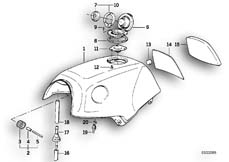 Goto diagram: BMW Classic Motorbike Model K 1100 LT (0526, 0536)( ECE ), Category 16.11 FUEL TANK-FILLER CAP :: Diagram: 16_0328