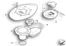 Goto diagram: BMW Classic Motorbike Model R 1200 C Indep. 00 (0405,0433)( ECE ), Category 16.11 Filler cap :: Diagram: 16_0351