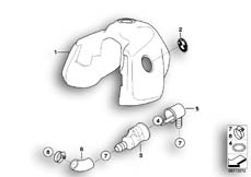 Goto diagram: BMW Classic Motorbike Model R 1150 GS Adv. 01 (0441,0492)( USA ), Category 16.11 Fuel tank :: Diagram: 16_0444