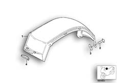 Goto diagram: BMW Classic Motorbike Model G 650 GS 09 (0178,0179)( ECE ), Category 16.11 Covering fuel tank :: Diagram: 16_0454
