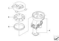 Goto diagram: BMW Classic Motorbike Model G 650 GS 09 (0178,0179)( ECE ), Category 16.14 FUEL PUMP/FUEL FILTER :: Diagram: 16_0468