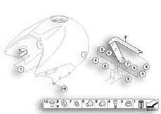 Goto diagram: BMW Classic Motorrad Modell R 1150 R 01 (0429,0439)( USA ), Category 16.11 FUEL TANK/ATTACHING PARTS :: Diagram: 16_0487