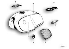 Goto diagram: BMW Classic Motorbike Model R90S( ECE ), Category 16.05 Fuel tank :: Diagram: 16_0583