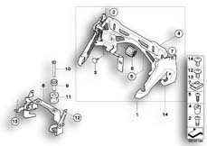 Goto diagram: BMW Classic Motorbike Model K 1200 S (0581,0591)( ECE ), Category 16.11 Fuel tank mounting :: Diagram: 16_0586