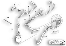 Goto diagram: BMW Classic Motorbike Model R 1200 ST (0328,0338)( ECE ), Category 16.14 FUEL SUPPLY/PUMP/FILTER :: Diagram: 16_0630