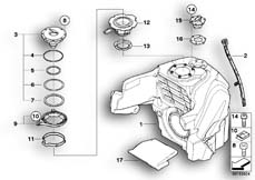 Goto diagram: BMW Classic Motorbike Model K 1200 GT (0587,0597)( USA ), Category 16.11 Fuel tank :: Diagram: 16_0641