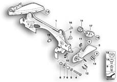 Goto diagram: BMW Classic Motorrad Modell K 1300 GT (0538,0539)( USA ), Category 16.11 Fuel tank mounting :: Diagram: 16_0642