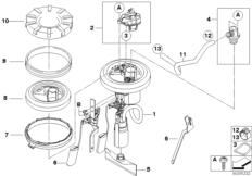 Goto diagram: BMW Classic Motorrad Modell F 800 GS Adve. (0B05, 0B15)( ECE ), Category 16.14 FUEL PUMP :: Diagram: 16_0644