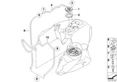 Goto diagram: BMW Classic Motorbike Model R 900 RT 05 SF (0367,0387)( ECE ), Category 16.13 Fuel tank ventilation :: Diagram: 16_0717