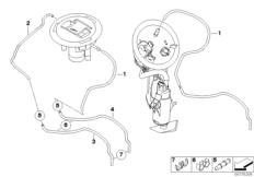 Goto diagram: BMW Classic Motorrad Modell R 1200 S (0366,0396)( ECE ), Category 16.13 Fuel tank ventilation :: Diagram: 16_0722