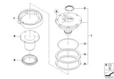 Goto diagram: BMW Classic Motorbike Model G 650 GS 09 (0178,0179)( ECE ), Category 16.11 Filler cap :: Diagram: 16_0743
