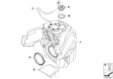 Goto diagram: BMW Classic Motorrad Modell K 1300 GT (0538,0539)( USA ), Category 16.11 Fuel tank :: Diagram: 16_0752