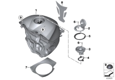 Goto diagram: BMW Classic Motorbike Model S 1000 RR 10 (0507,0517)( ECE ), Category 16.11 Fuel tank :: Diagram: 16_0766