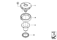 Goto diagram: BMW Classic Motorrad Modell G 650 GS Sertão (0136, 0146)( ECE ), Category 16.11 Fuel tank filler cap :: Diagram: 16_0798