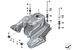 Goto diagram: BMW Classic Motorbike Model K 1600 Bagger (0F51, 0F53)( USA ), Category 16.11 Fuel tank / fastening parts :: Diagram: 16_0827