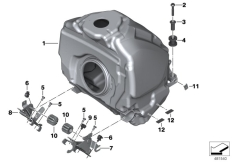 Goto diagram: BMW Classic Motorrad Modell R 1200 RS (0A05, 0A15)( USA ), Category 16.11 Fuel tank, fastening parts :: Diagram: 16_0893