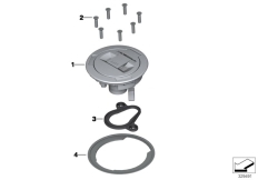 Goto diagram: BMW Classic Motorbike Model R nineT Racer (0J21, 0J23)( USA ), Category 16.11 Filler cap :: Diagram: 16_0907