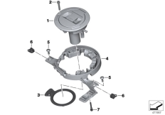 Goto diagram: BMW Classic Motorbike Model K 1600 GTL 17 (0F02, 0F12)( USA ), Category 16.11 Filler cap :: Diagram: 16_0915