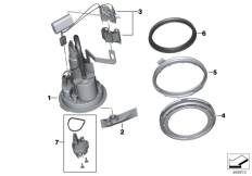 Goto diagram: BMW Classic Motorbike Model S 1000 XR (0D23)( BRA ), Category 16.14 Fuel pump / lever sensor :: Diagram: 16_1015
