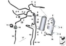 Goto diagram: BMW Classic Motorbike Model R nineT Racer (0J21, 0J23)( USA ), Category 16.13 Activated Charcoal Filter/mounting parts :: Diagram: 16_1098