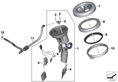 Goto diagram: BMW Classic Motorrad Modell F 700 GS 17 (0B26)( BRA ), Category 16.14 FUEL PUMP :: Diagram: 16_1137