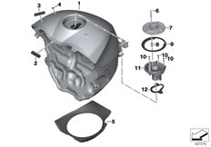 Goto diagram: BMW Classic Motorrad Modell HP4Race (0E31, 0E33)( ECE ), Category 16.05 Fuel tank with filler pipe :: Diagram: 16_1228