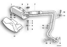 Goto diagram: BMW Classic Motorbike Model K 1200 GT 01 (0548,0558)( USA ), Category 17.21 OIL COOLER :: Diagram: 17_0123