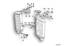 Goto diagram: BMW Classic Motorbike Model K 1200 GT 01 (0548,0558)( USA ), Category 17.11 MOUNTING PARTS F RADIATOR :: Diagram: 17_0124