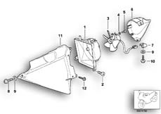 Goto diagram: BMW Classic Motorbike Model K 1200 GT 01 (0548,0558)( USA ), Category 17.42 Fan housing, mounting parts :: Diagram: 17_0126