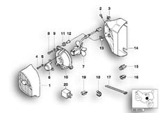 Goto diagram: BMW Classic Motorrad Modell R 1100 R 94 (0402,0407)( USA ), Category 17.42 Additional fan and mounting parts :: Diagram: 17_0132