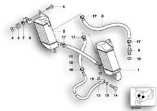 Goto diagram: BMW Classic Motorbike Model R 1200 C Indep. 00 (0405,0433)( ECE ), Category 17.21 OIL COOLER/OIL COOLING PIPE :: Diagram: 17_0138