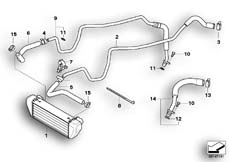 Goto diagram: BMW Classic Motorbike Model K 1200 S (0581,0591)( ECE ), Category 17.21 OIL COOLER/OIL COOLING PIPE :: Diagram: 17_0338