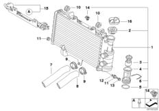 Goto diagram: BMW Classic Motorbike Model F 800 GT (0B03, 0B13)( USA ), Category 17.11 Radiator :: Diagram: 17_0372