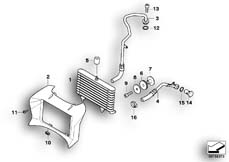 Goto diagram: BMW Classic Motorbike Model R 1200 R 06 (0378,0398)( USA ), Category 17.21 OIL COOLER/OIL COOLING PIPE :: Diagram: 17_0381