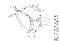 Goto diagram: BMW Classic Motorbike Model K 1200 S (0581,0591)( ECE ), Category 17.11 Radiator :: Diagram: 17_0455
