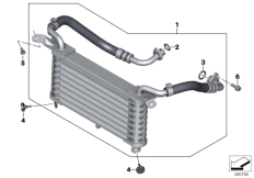 Goto diagram: BMW Classic Motorbike Model S 1000 RR 10 (0507,0517)( ECE ), Category 17.21 OIL COOLER :: Diagram: 17_0507