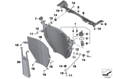 Goto diagram: BMW Classic Motorrad Modell K 1600 GT 17 (0F01, 0F11)( ECE ), Category 17.11 Radiator :: Diagram: 17_0588