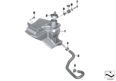 Goto diagram: BMW Classic Motorbike Model K 1600 GTL 17 (0F02, 0F12)( USA ), Category 17.13 EXPANSION TANK :: Diagram: 17_0590