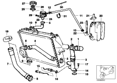 Goto diagram: BMW Classic Motorbike Model K 1100 LT (0526, 0536)( ECE ), Category 17.12 COOLING SYSTEM - WATER HOSES :: Diagram: 17_0629