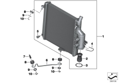 Goto diagram: BMW Classic Motorrad Modell C 650 Sport 16 (0C04, 0C14)( USA ), Category 17.11 Radiator :: Diagram: 17_0659