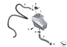 Goto diagram: BMW Classic Motorbike Model F 800 GT (0B03, 0B13)( USA ), Category 17.13 EXPANSION TANK :: Diagram: 17_0681