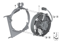 Goto diagram: BMW Classic Motorrad Modell G 650 GS Sertão (0136, 0146)( ECE ), Category 17.42 Fan :: Diagram: 17_0688