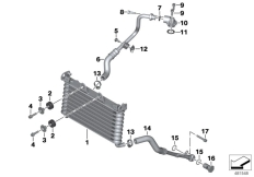 Goto diagram: BMW Classic Motorbike Model R nineT (0A06, 0A16)( USA ), Category 17.21 OIL COOLER :: Diagram: 17_0730