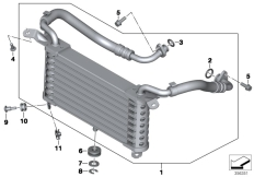 Goto diagram: BMW Classic Motorbike Model S 1000 R 17 (0D72)( BRA ), Category 17.21 OIL COOLER :: Diagram: 17_0733