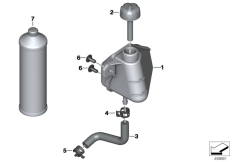 Goto diagram: BMW Classic Motorrad Modell F 700 GS (0B21)( BRA ), Category 17.13 EXPANSION TANK :: Diagram: 17_0736