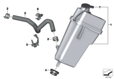 Goto diagram: BMW Classic Motorrad Modell R 1200 RS (0A05, 0A15)( USA ), Category 17.13 EXPANSION TANK/TUBING :: Diagram: 17_0776