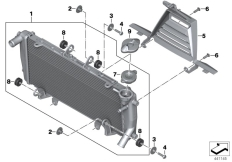 Goto diagram: BMW Classic Motorrad Modell R 1200 R (0A04, 0A14)( ECE ), Category 17.11 Radiator with mounting :: Diagram: 17_0791